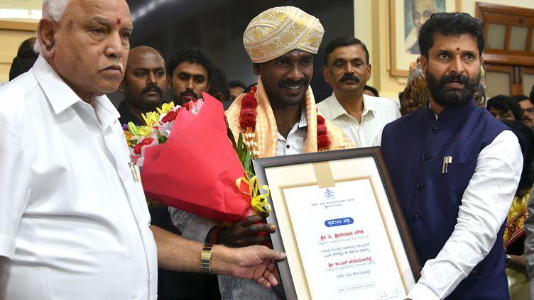 Srinivas Gowda, homme le plus rapide de l'Inde. (MANJUNATH KIRAN / AFP)
