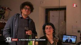 Les partisans de Jean-Luc Mélenchon ont regardé le débat télévisé. (FRANCEINFO)