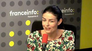 Camille de Peretti, écrivain et mère d'un enfant autiste, lundi sur franceinfo. (RADIO FRANCE)