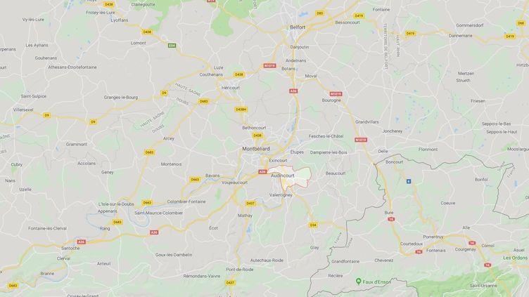 La commune d'Audincourt, dans le Doubs. (CAPTURE ECRAN GOOGLE MAPS)