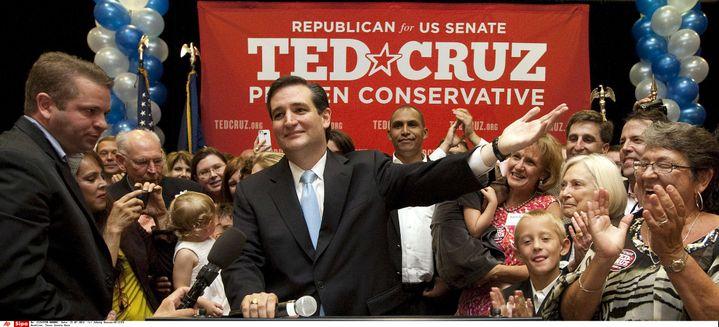Ted Cruz en campagne pour un siège au Sénat américain, à Houston (Etats-Unis), le 31 juillet 2012 (JOHNNY HANSON / AP / SIPA)