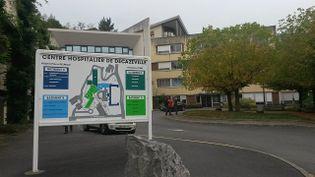 La maternité de Decazeville, dans l'Aveyron, dans laquelle une mère et son bébé sont morts à l'accouchement, dans la nuit du 5 au 6 octobre 2016. (MATHILDE DE FLAMESNIL / FRANCE 3 MIDI-PYRENEES)