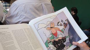 La couverture de Tintin en Amérique, vendue plus de 1,3 million d'euro le 2 juin chez Artcurial  (Francis Forget)