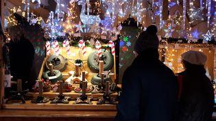 Après l'attentat du 11 décembre, le marché de Noël, place Broglie, à Strasbourg a réouvert le 14 décembre 2018. (BENJAMIN ILLY / RADIOFRANCE)