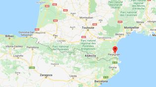 Les arrestations ont eu lieu dans le secteur de Perpignan. (CAPTURE D'ECRAN GOOGLE MAPS)