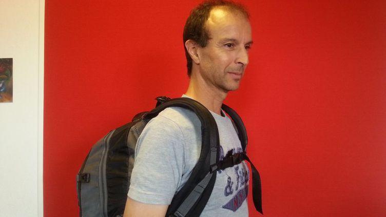 Mohammed Errafi le créateur du Gravipack, ce sac à dos qui ne fait pas mal au dos (RADIO FRANCE/ FRANCE BLEU AUXERRE - Renaud Candelier)