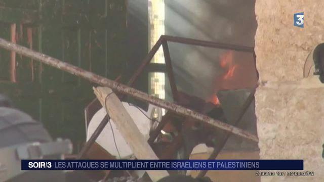 Proche-Orient : les attaques se multiplient entre Israéliens et Palestiniens