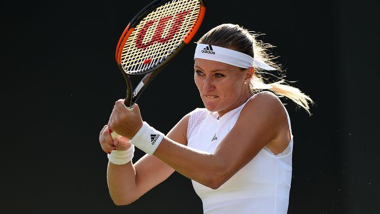 Kristina Mladenovic à Wimbledon (OLI SCARFF / AFP)