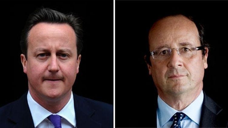 Une passe d'armes entre le Premier ministre britannique et le président français sur la fiscalité a eu lieu en marge du G20 de Los Cabos, au Mexique, le 18 juin 2012. (AFP/Carl Court/Martin Bureau)