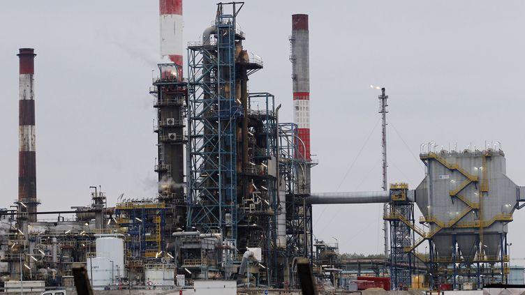 La raffinerie de Grandpuits, en Seine-et-Marne (illustration). (FRANCOIS GUILLOT / AFP)