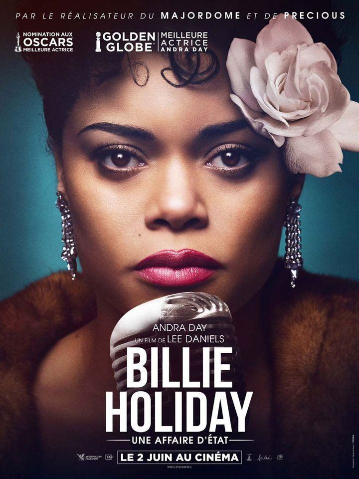 """L'affiche de""""Billie Holliday, une affaire d'Etat"""" de Lee Daniels (2021). (METROPOLITAN FILMEXPORT)"""