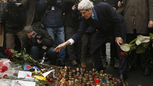 John Kerry était à Kiev (Ukraine), mardi 4 mars 2014. (KEVIN LAMARQUE / AFP)