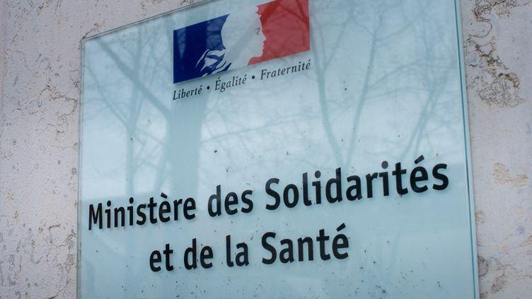 Le façade du ministère des Solidarités et de la Santé, en décembre 2018. (RICCARDO MILANI / HANS LUCAS / AFP)