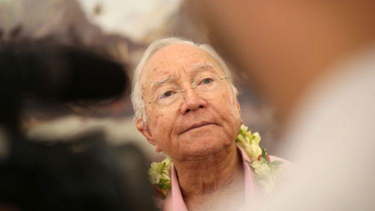 (© Maxppp Gaston Flosse avait été réélu Président de la Polynésie française en 2013)
