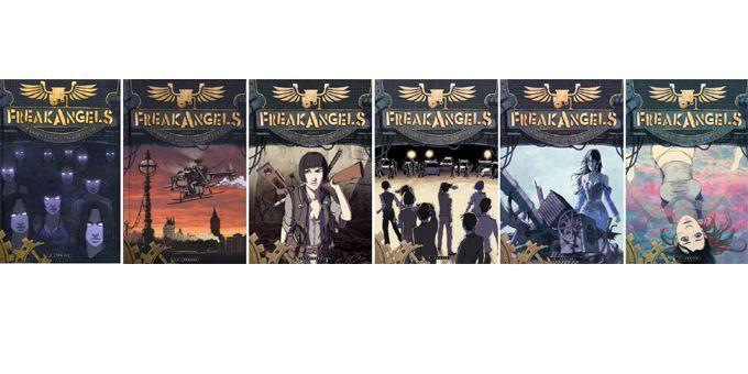 "Les 6 volumes de ""Freakangels""  (Ed. Lombard)"