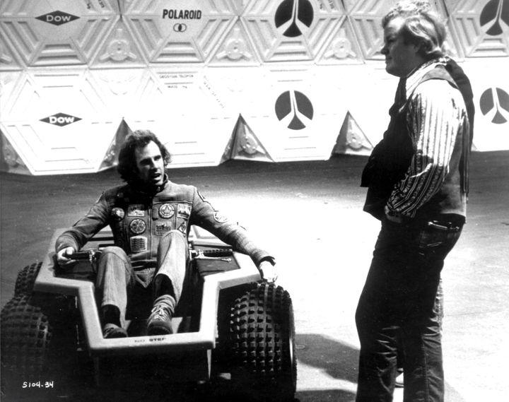 """Douglas Trumbull (D) sur le tournage de """"Son film """"Silent Running"""" avec Bruce Dern (G) en 1972  (RONALDGRANT/MARY EVANS/SIPA)"""