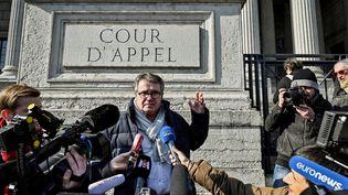 L'agriculteur Paul François devant la cour d'appel de Lyon, le 6 février 2019. (JEFF PACHOUD / AFP)
