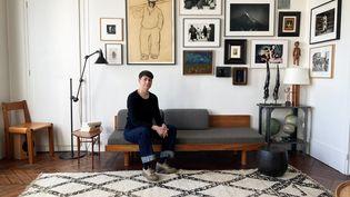 L'écrivaine Joy Sorman, Paris, le 24 mars 2021 (Laurence Houot / FRANCEINFO CULTURE)