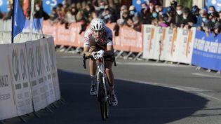 Clément Champoussin (AG2R-Citroën) ouvre son compteur sur la Vuelta lors de la 20e étape. (DYLAN MEIFFRET / MAXPPP)