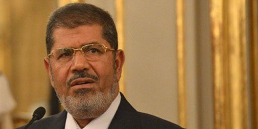 Le président égyptien Mohamed Morsi à Rome, le 13 septembre 2012. (ALBERTO PIZZOLI ALBERTO PIZZOLI / AFP)