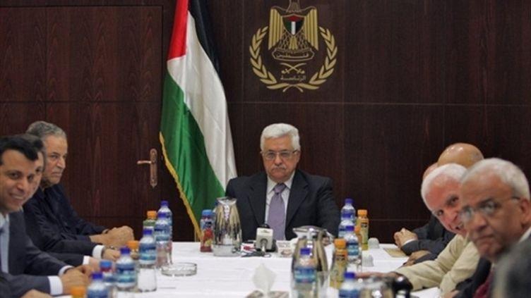 Mahmoud Abbas préside une réunion du nouveau Comité central du Fatah, le 13 août à Ramallah (Cisjordanie) (© AFP / Abbas Momani)