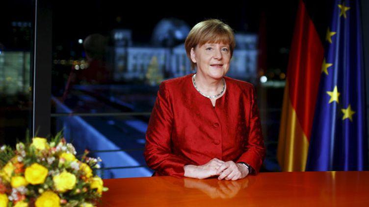 (Angela Merkel présente ses voeux de Nouvel An © REUTERS/Hannibal Hanschke)