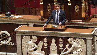 Manuel Valls le 29 avril 2014 à l'Assemblée nationale (ERIC FEFERBERG / AFP)