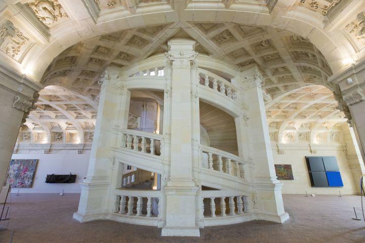 Le grand escalier à double révolution du Château de Chambord, attribué à Léonard de Vinci (ESCUDERO PATRICK / HEMIS.FR / HEMIS.FR)