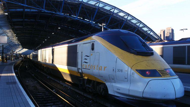 Un train Eurostar, le 31 octobre 2011 à Londres (Royaume-Uni). (BOB DEWEL / ONLY WORLD / AFP)