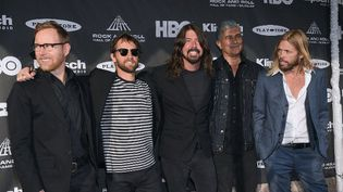 Nate Mendel, Chris Shiflett, Dave Grohl, Pat Smear and Taylor Hawkin des Foo Fighters.  (Michael loccisano / GETTY IMAGES NORTH AMERICA / AFP)