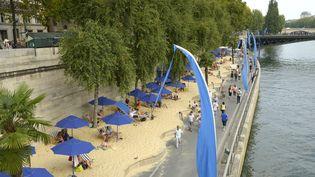 Les berges de la Seine à l'occasion de l'opération Paris Plages, le 12 août 2015. (BERTRAND GUAY / AFP)