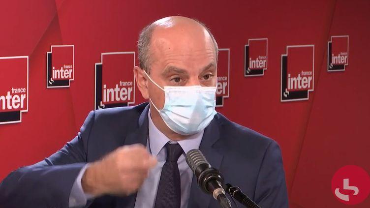 Jean-Michel Blanquer, ministre de l'Éducation nationale, sur France Inter le 2 novembre 2020. (FRANCEINTER / RADIOFRANCE)