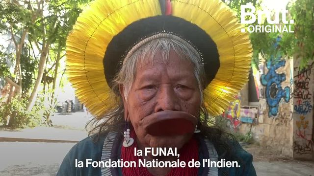 Incendies, politique de Bolsonaro et défense des droits des autochtones… Raoni s'est exprimé sur la forêt amazonienne pour Brut.