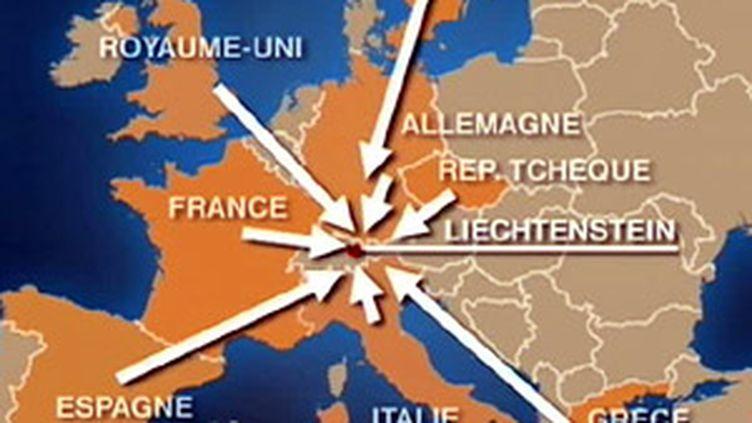 Le rayonnement des banques du Liechtenstein sur ses voisins européens (France 2)