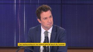 Guillaume Peltier, vice-président délégué du parti Les Républicains, était l'invité de franceinfo mardi 1er décembre 2020. (FRANCEINFO / RADIO FRANCE)