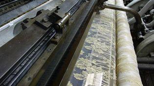 Détail d'un métier à tisser, à Caudry(2002)  (MEIGNEUX/SIPA)