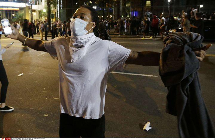 Les dernières émeutes en novembre 2016 à Charlotte dans le sud-est des Etats-Unis  (Chuck Burton/AP/SIPA)