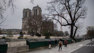 La cathédrale Notre-Dame de Paris, le 20 mars 2020 (MARTIN BUREAU / AFP)