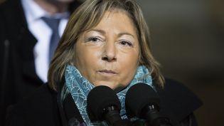 Natacha Bouchart maire (Les Républiains) de Calais à l'Elysée, à Paris, le 4 mars 2016. (GEOFFROY VAN DER HASSELT / AFP)