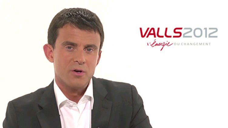 Manuel Valls dans son clip de campagne pour la primaire socialiste. (DR)