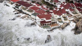 La partie hollandaise de l'île de Saint-Martin avant d'être frappée par l'ouragan Irma, mercredi 6 septembre 2017. (GERBEN VAN ES / DUTCH DEFENSE MINISTRY)