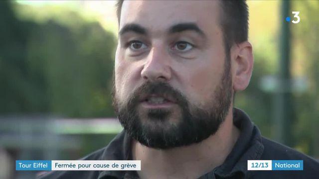 Paris : la Tour Eiffel fermée, le personnel en grève