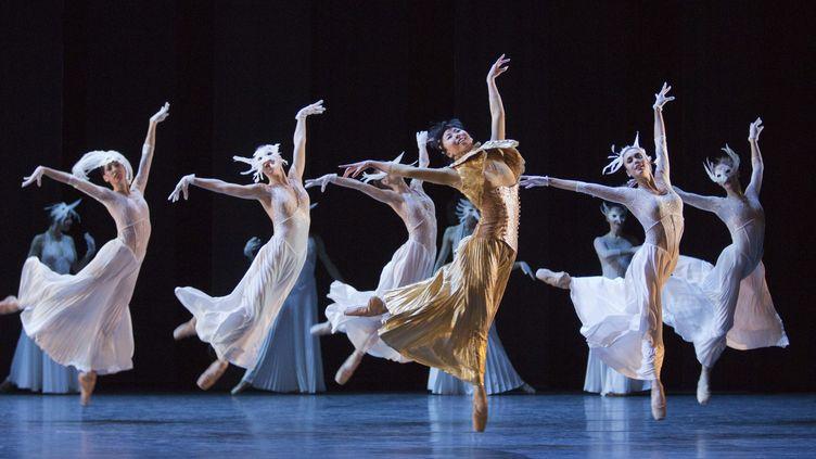 Répétition pour le Ballet de Monte-Carlo au London Coliseum le 8 avril 2014  (London News Pictures/MAXPPP)