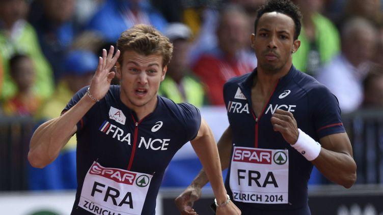Christophe Lemaitre lors du 4x100m.