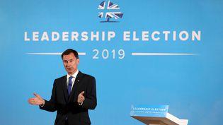 Le ministre britannique des Affaires étrangères, Jeremy Hunt, le 2 juillet 2019 à Belfast (Royaume-Uni). (PETER MORRISON / AFP)