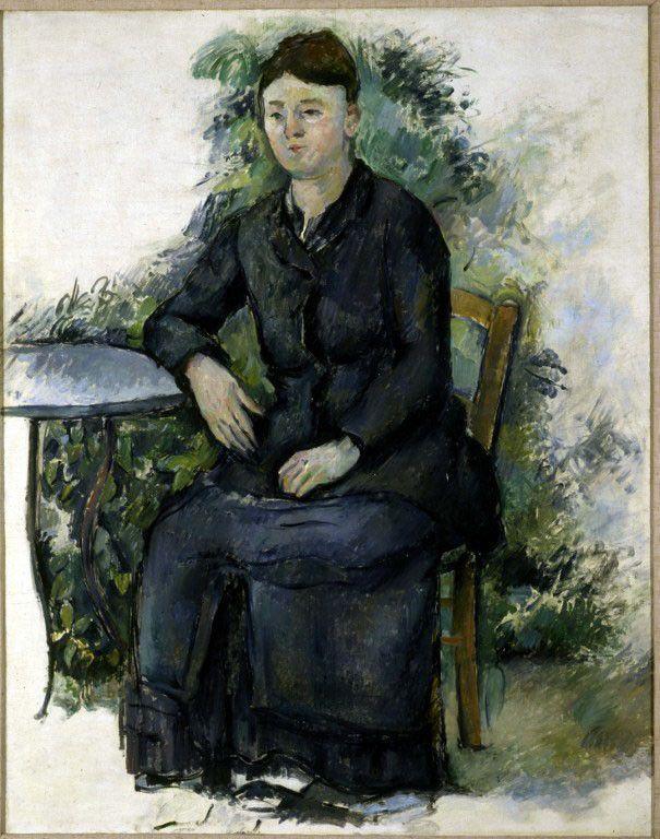 """""""Madame Cézanne au jardin"""", Paul Cézanne, vers 1880  (Roger-Viollet)"""