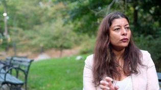 Sandra Muller, l'instigatrice du mouvement #balancetonporc (ANGELA WEISS / AFP)