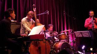 L'Amnesiac Quartet au Studio de l'Ermitage, avec son fondateur Sébastien Paindestre aux claviers.  (DR)