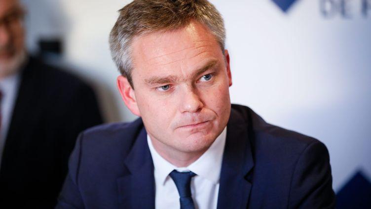 David Margueritte, président Les Républicains de la communauté d'agglomération du Cotentin, le 8 novembre 2017. (THOMAS PADILLA / MAXPPP)