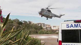 Corse : première évacuation sanitaire de la quatrième vague à Bastia (France 2)